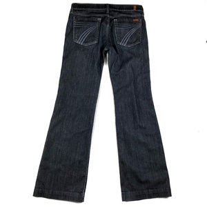 7 For All Mankind Dark Wash Dojo Jeans / 31